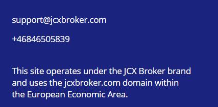 JCX Broker развод