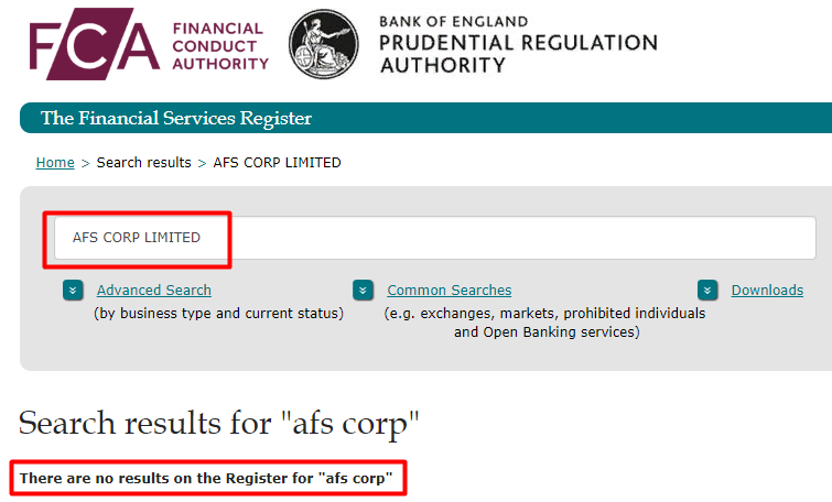 AFS Finance жулики, мошенники