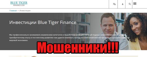 Blue Tiger Finance мошенники, жулики, аферисты