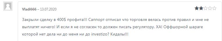 Investizo отзывы