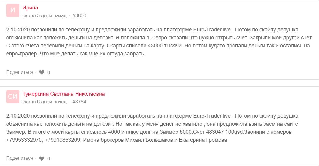 Euro-Trader отзывы