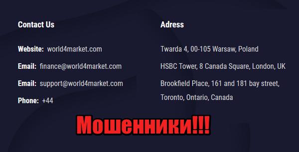 World4Market мошенники, жулики, лохотрон