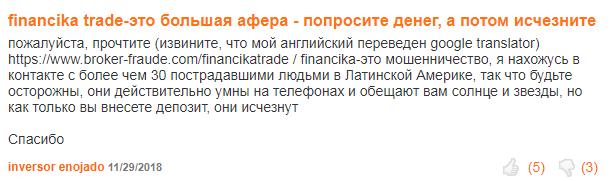 Financika отзывы