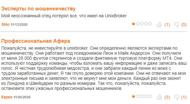 UnixBroker отзывы