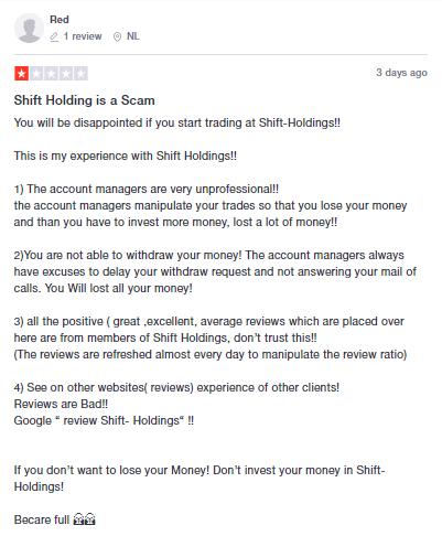 Shift Holdings отзывы