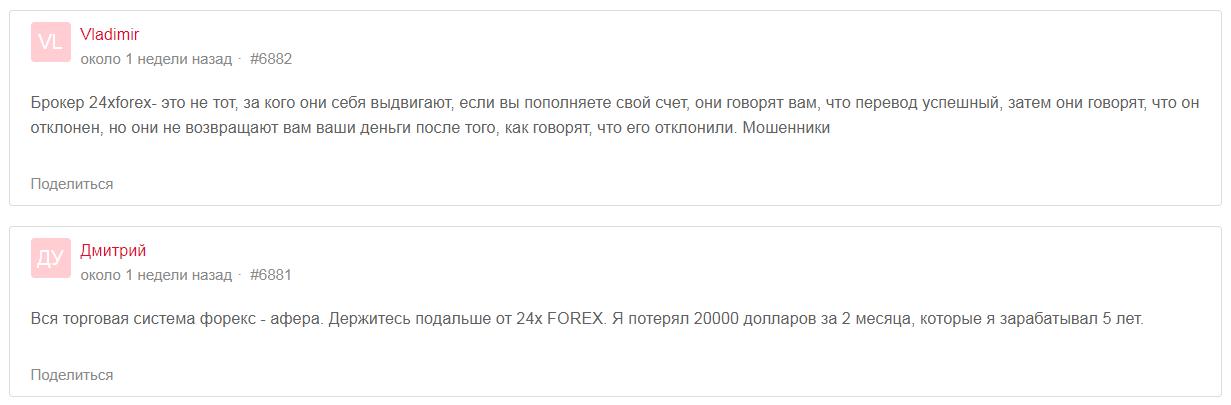 24xFOREX отзывы
